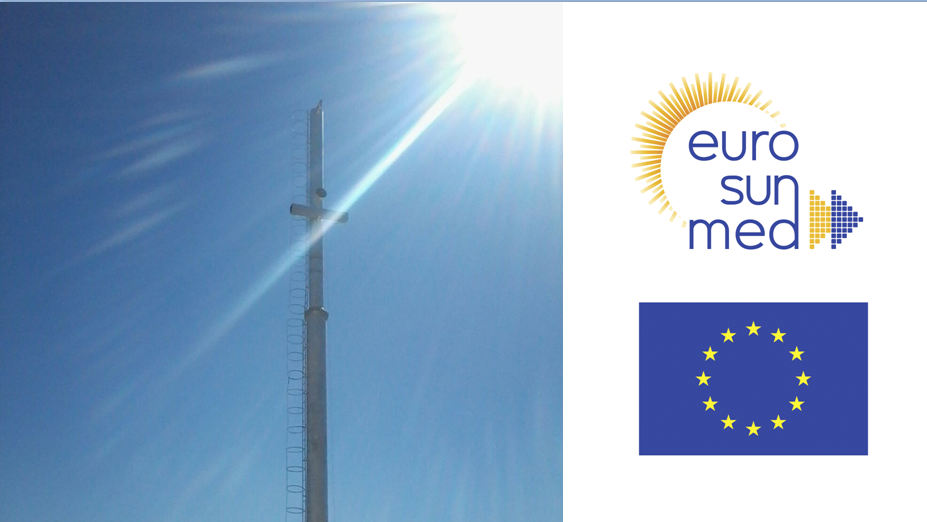 Construction of a solar tower for the first experimental heliostat field in Egypt